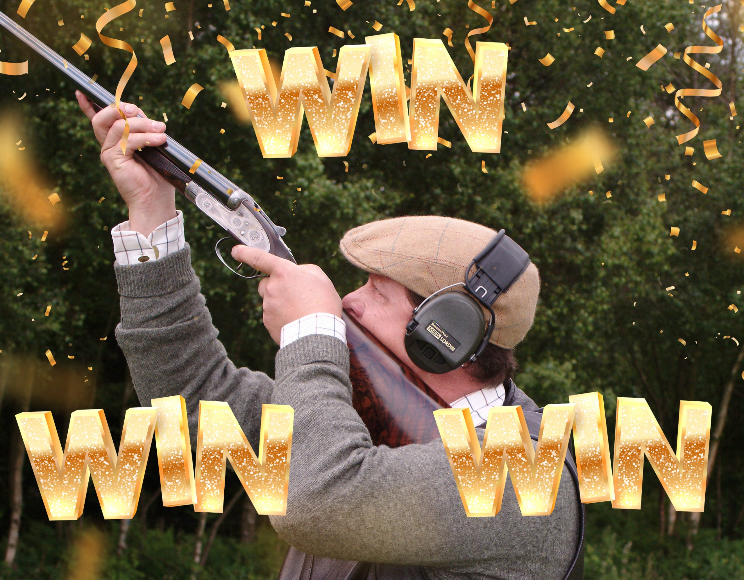 great-northern-classic-shooter-in-woods-aiming-classic-shootgun-with-win-confetti